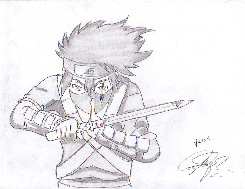 Shaded Kid Kakashi Hatake by Angelito-soldado on DeviantArt