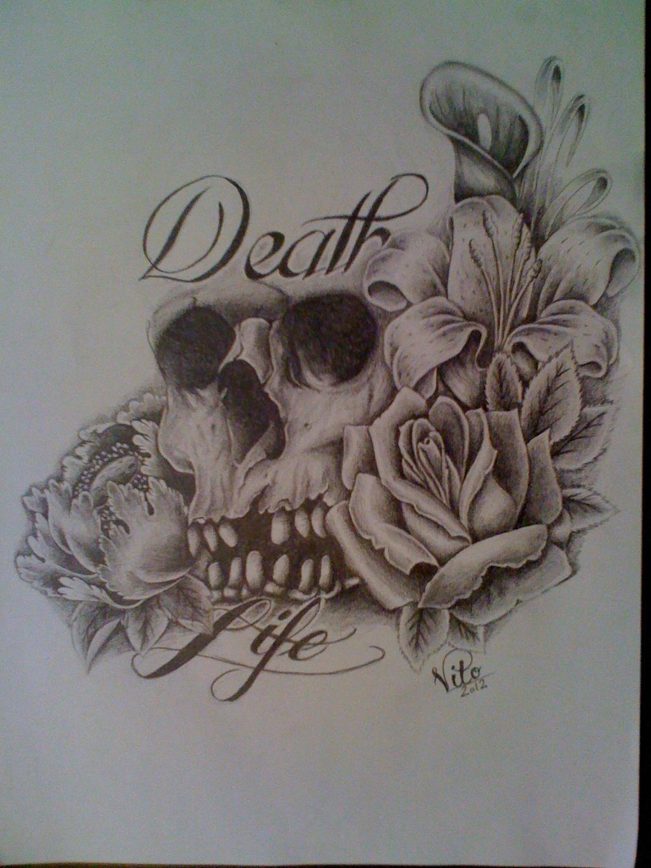 death and life by birdstickart on deviantart. Black Bedroom Furniture Sets. Home Design Ideas
