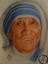Mother Teresa by BirdstickArt