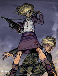KICK-ASS: the Girl and the Ass Kicked Boy by Ricken-Art