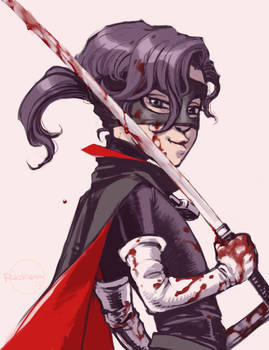 Hit-Girl bloody doodle
