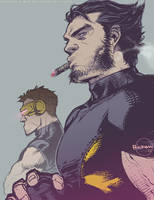 Ultimate X-Men: Wolverine and Cyclops by Ricken-Art