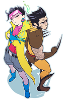 Wolverine and Jubilee 02 by Ricken-Art