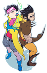 Wolverine and Jubilee 02