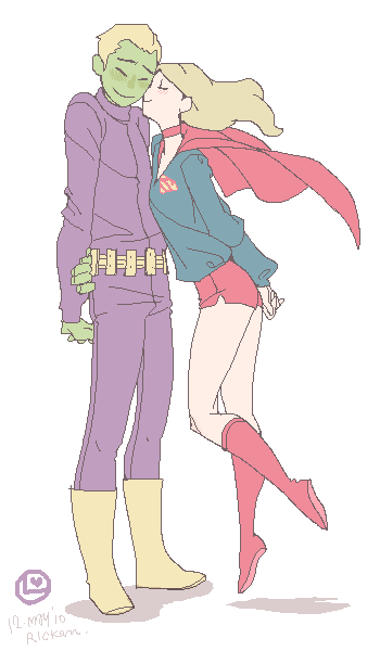Brainy and Kara: in Silver age by Ricken-Art