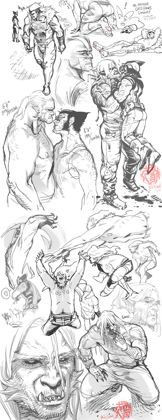 Some Wolverine sketches by Ricken-Art