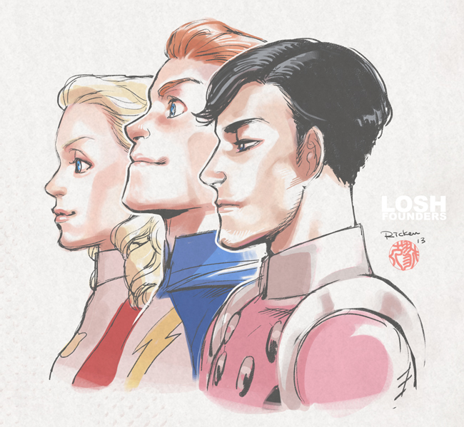 LoSH founders by Ricken-Art
