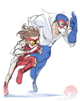 Bart and Max the speedsters rough sketch