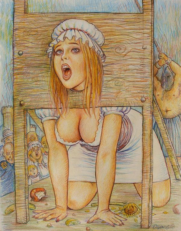 Girl on guillotine porn