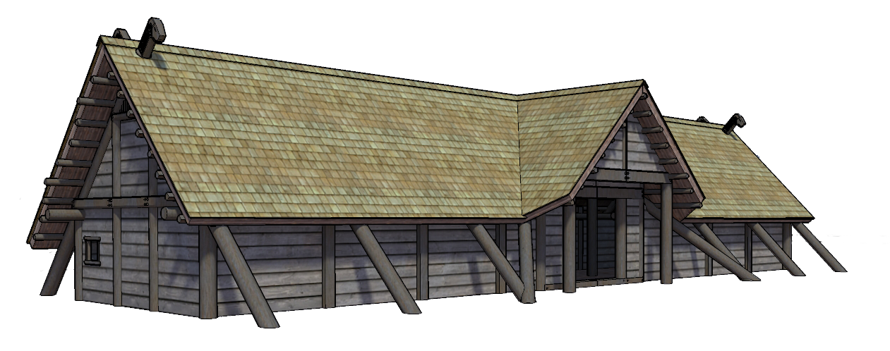 Wip Viking Longhouse By Wraithdouser On Deviantart