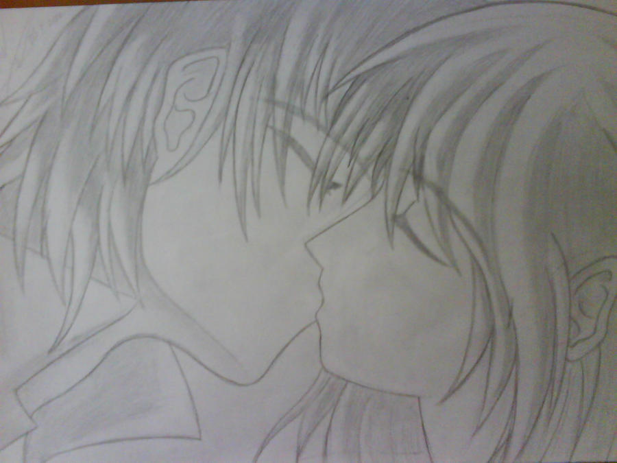 anime couples kiss. Anime Couple Kiss by