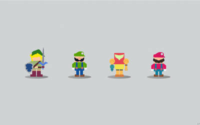 Minimalist Nintendo Characters [1] by NumFive