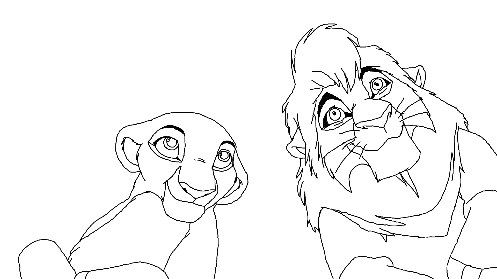 Kovu and kiara base by scarzdaughter on deviantart for Lion king scar coloring pages