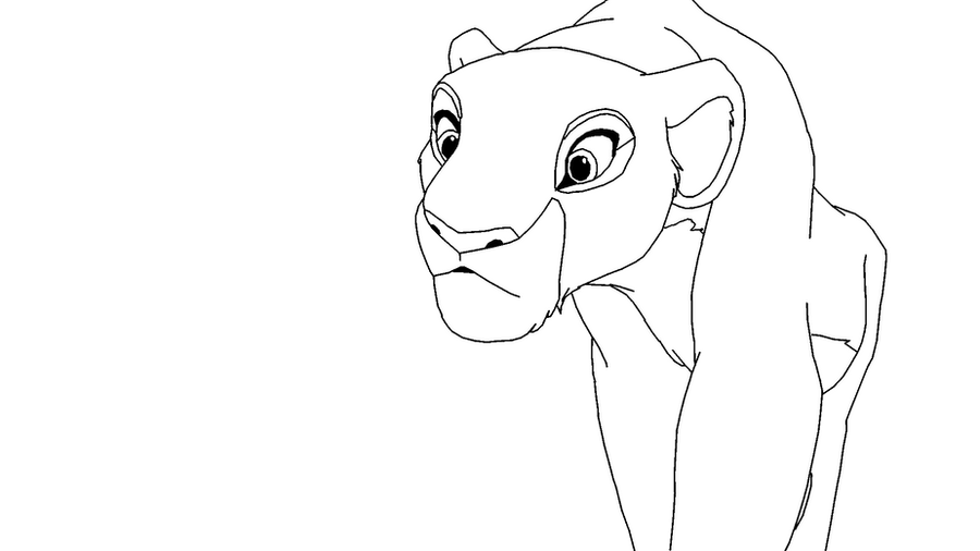 Base nala by scarzdaughter on deviantart for Lion king coloring pages nala