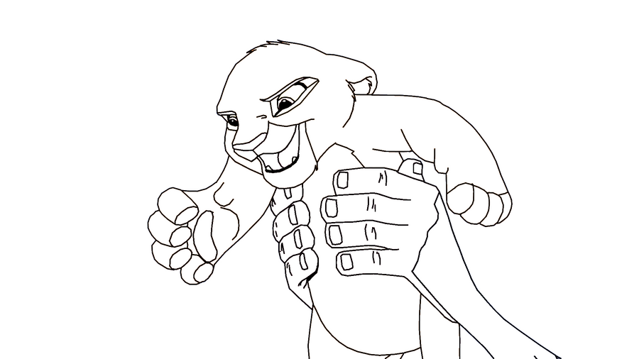 Lion king coloring pages simba and nala for Lion king kiara coloring pages