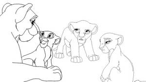 Lioness and three Daughters