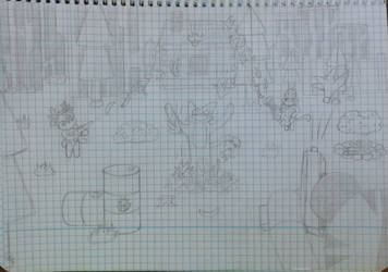 It's Raining Banan (sketch) by jdragon567