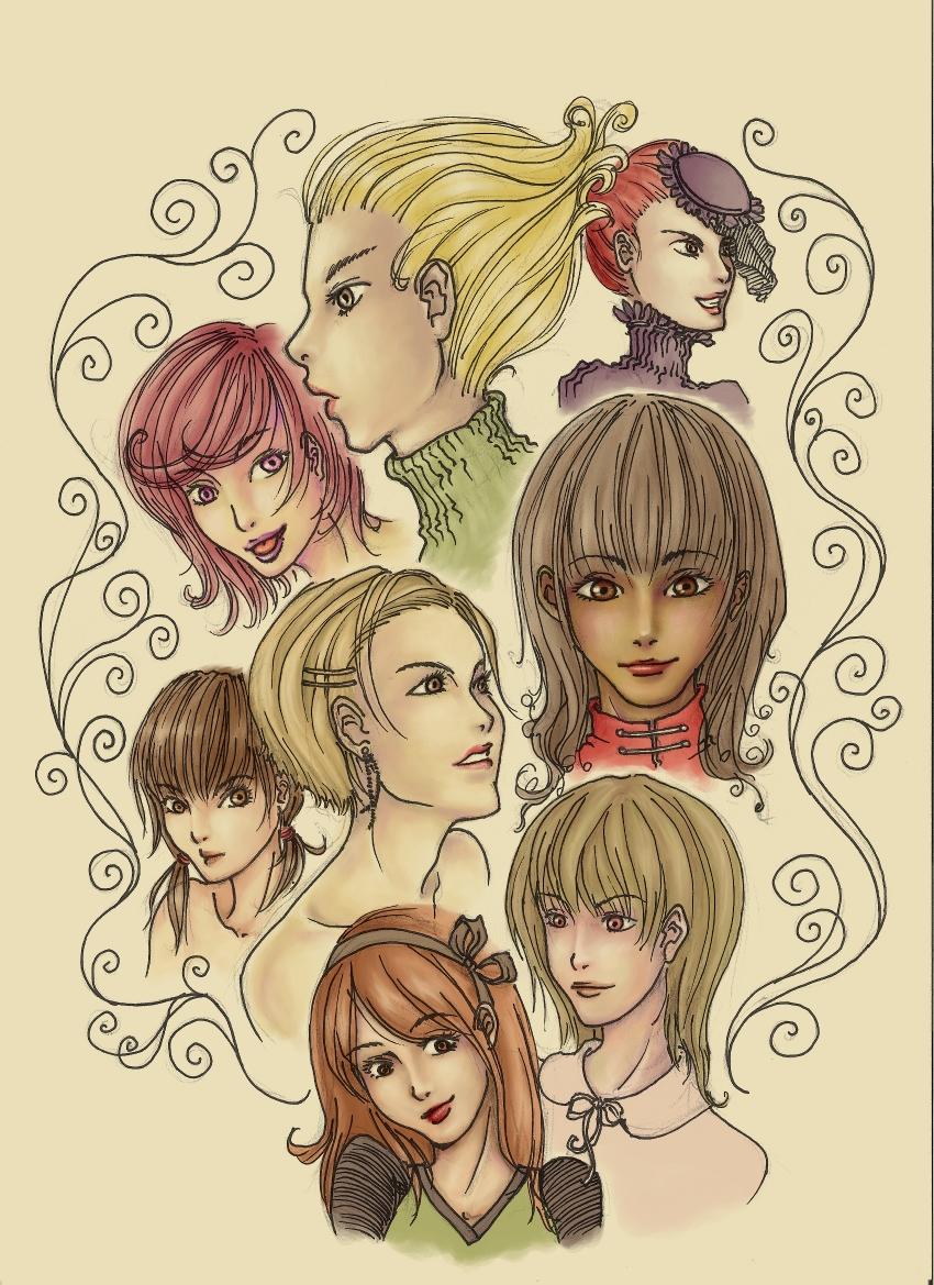Doodle faces by kashka on deviantart for Doodle art faces