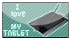 I love MY TABLET - stamp by arisou