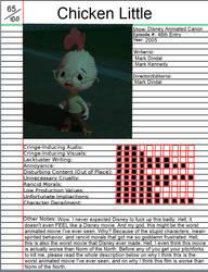 Atrocity Notebook: Chicken Little by FarhantheMovieGuy