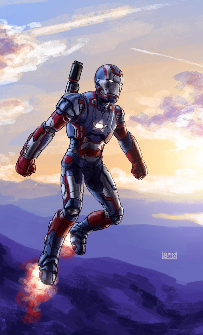 Iron Patriot Coloring Page Iron-patriot by biram-ba