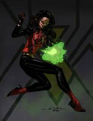 Spider-woman by Spiderguile-colors by Biram-Ba