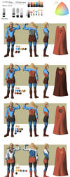 Supergirl redesign 3 and 4 by Biram-Ba