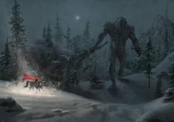 Odin vs Ymir by Biram-Ba