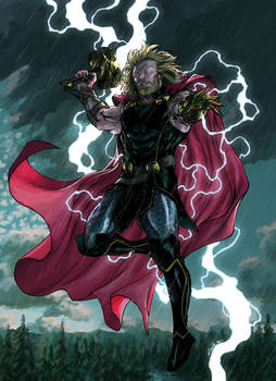 Thor The Mighty -by Spiderguile - colors