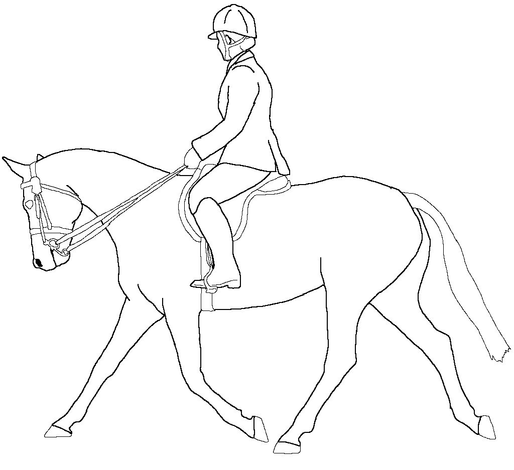 Trotting Horse Lineart by Awesome-Horsies on deviantART