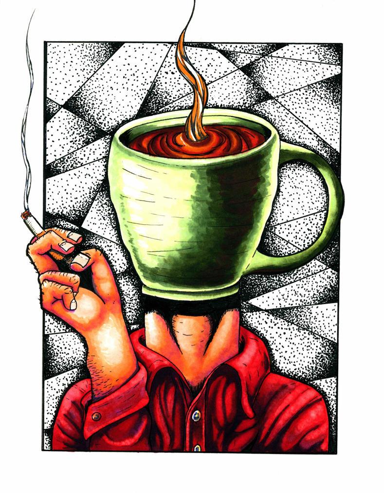 Coffee Head by montanart