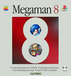 Special - Megaman 8 Montage over a Mac OS 8 box