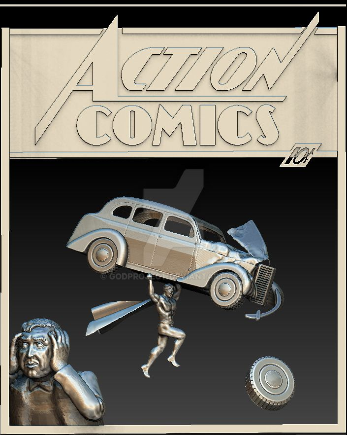 Action Comics No1 3D Day 7(1st App. of Superman) by godproject