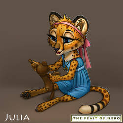 Little Julia and her toy(happy version)