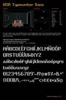 VGA Typewriter Sans by Frankqbe
