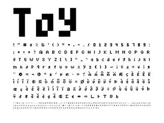 Toy Font by Frankqbe