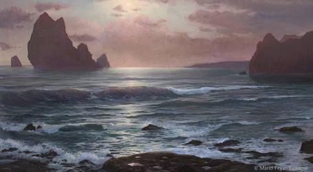 Misty Sunrise at the Sea