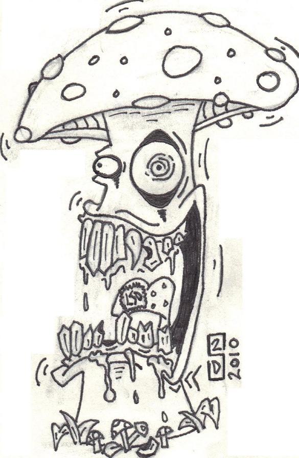 Gallery For gt Trippy Mushroom Drawings