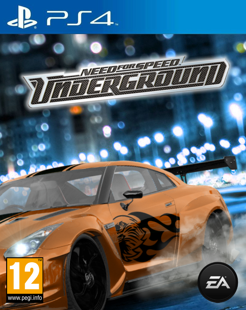 need for speed underground remake cover ps4 by. Black Bedroom Furniture Sets. Home Design Ideas