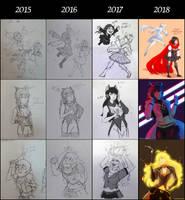 Art Progression 2018 by ejaylee