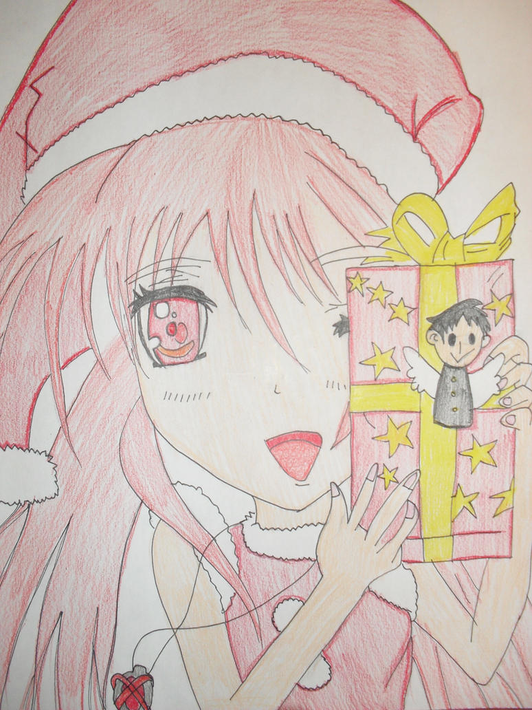 Drawing Of Christmas Anime Girl By Cutie80693 On DeviantArt