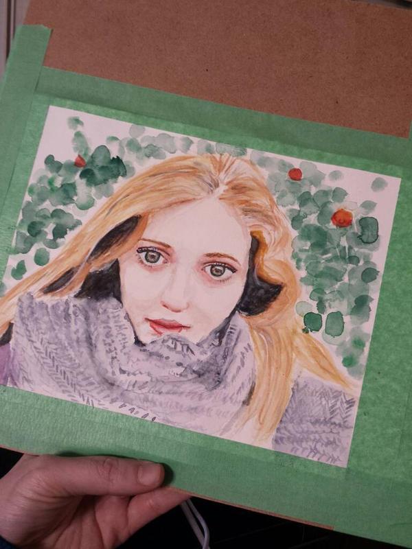 Work in progress. Portrait.  by JacquelinElizabeth