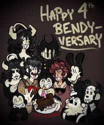 Happy 4th birthday bendy!
