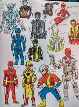 the flash family... and red hood