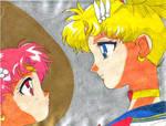 Sailor Moon and Chibi Moon 2