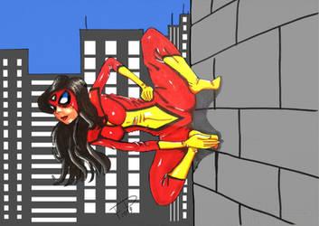 Spider woman nackt