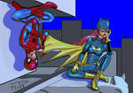 Spidey and batgirl