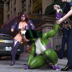 She Hulk vs Titania by rosepab