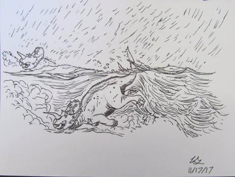 Dinovember #17: Flood