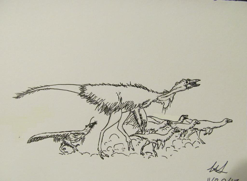 Dinovember #20: Flock by G0j1r4